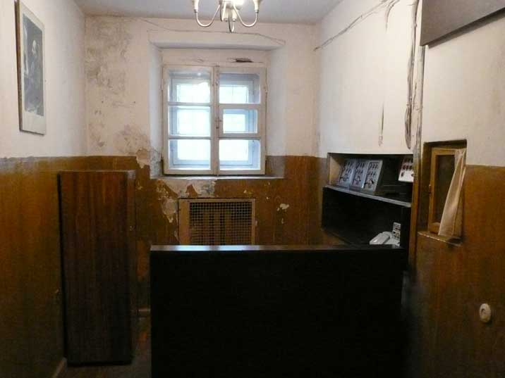 Room for the KGB guards on duty with a portrait of Dzerzhinsky