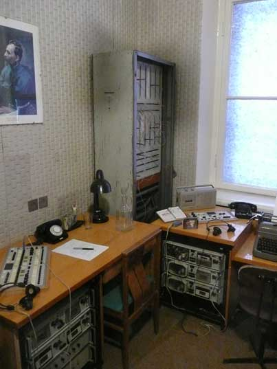 Room in the KGB headquarters with eavesdropping equipment