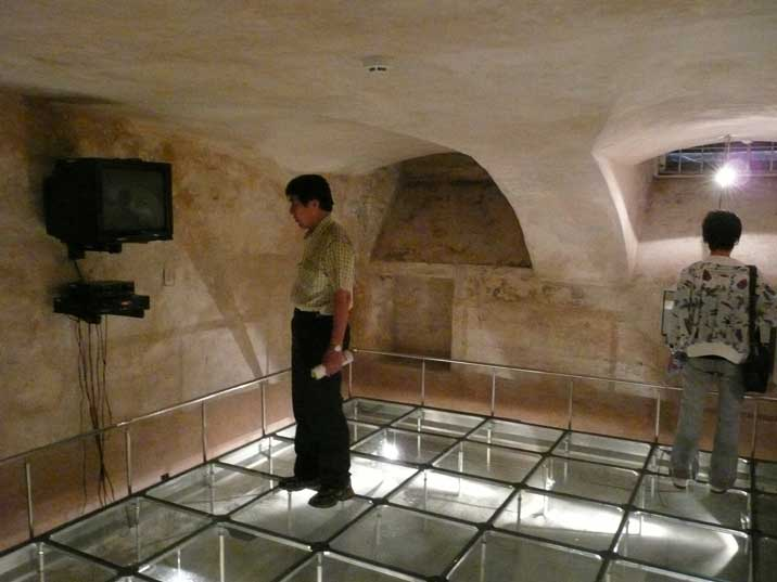 Execution chamber in the cellar of the Vilnius KGB building