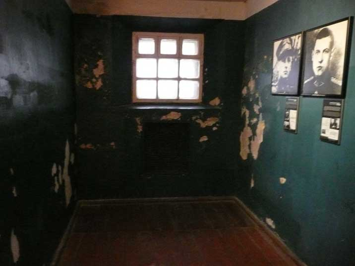 Post World War II prison cell were up to 20 prisoners were held