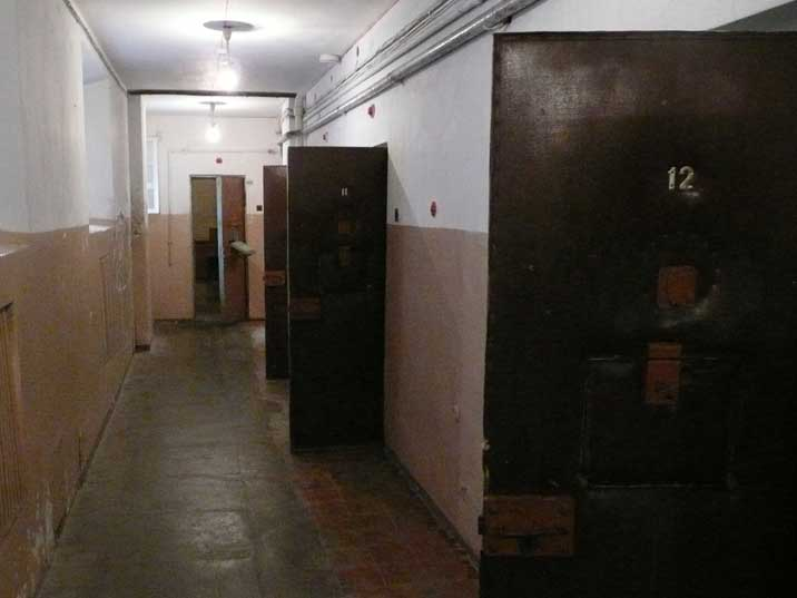 Cell entrances in the Headquarters of the Lithuanian KGB