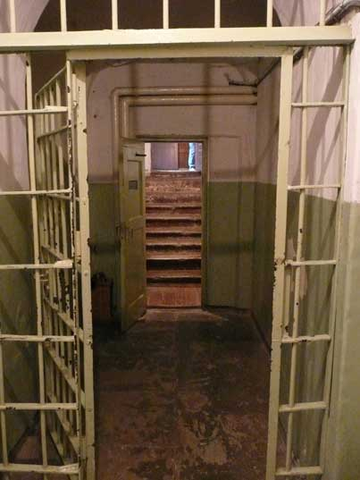 Entrance to the prison area of the Vilnius KGB headquarters