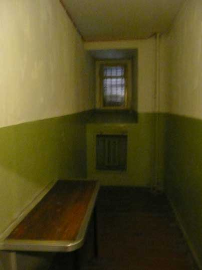 Cell used by the Vilnius KGB to search newly arrived prisoners