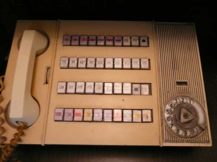 Communication system used by the KGB officers of the prison