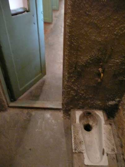 Prisoner toilet in the solitary confinement cell of the KGB prison