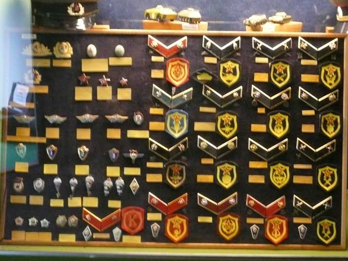 Soviet World War II navy insignia displayed at Wings of Liberation
