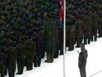 Giant at Kim Jong Il funeral