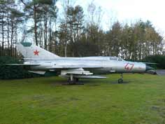 MiG-21PFM Fishbed at the Dutch Air Force Museum near Soesterberg