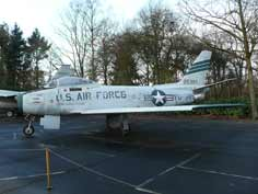 The F-86F Sabre became famous as de adversary of the MiG-15 in Korea