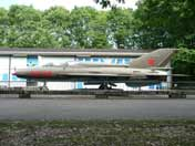 Soviet Mig-21UM two seater trainer aircraft, now gone from museum