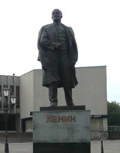 Lenin statue on a square near Lenin street in Kaliningrad