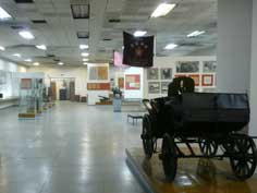 Exposition of the Frunze Museum with memorabilia and photos that relate to the life of the famous revolutionary leader
