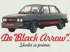 Poster of the Black Arrow, the top model of the 120 series with many sport upgrades and race striping