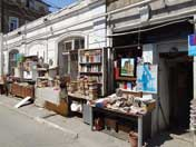A book shop in the old Jewish quarters of Baku that has many Soviet era books and postcards on sale