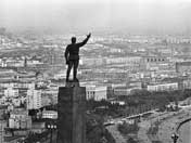 A giant statue of Kirov dominated the Baku skyline from 1939 to the end of the Societ Union in 1992