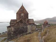Sevanavank Monastery was founded on an island in the year 874, but is now on a peninsula since the water level felt down