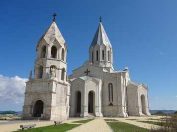 The Azeri had a stockpile of ammunition in the St. Ghazanchetsots church since the Armenians would not shell it