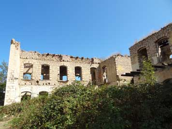 Ruins of Shushi houses that were destroyed during the Nagorno-Karabakh in the early 1990s