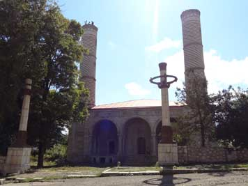 The Gevharaga mosque of Shushi was damaged during the war and is now being resorted with Iranian money