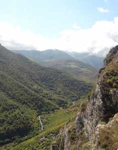 The beautiful Shushi Gorge where Armenian soldiers climbed up during the war to break the siege of Shushi