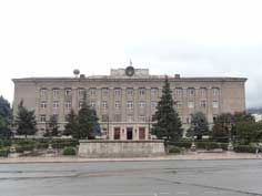 The Government building of the Nagorno-Karabakh Republic on Republic Square in the centre of Stepanakert