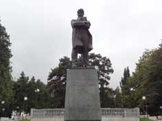 Statue of Stepan Shahumyan a revolutionary and member of the Baku Soviet Commune, nicknamed the