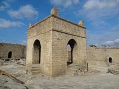 The Surakhani Fire Temple (Ateshgah) was build during the 17th century by the Zoroastrians with a fire from natural gas