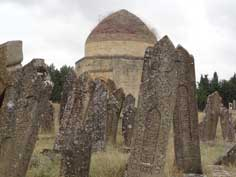 Yeddi Gumbez (7 tombs) is an 18th century burial site near Shamakhy century on a hill where Azeri Kahns were buried
