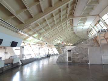 The Zvartnots Airport terminal is the most outstanding airport building we have seen in a former Soviet country