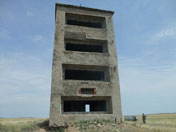 Observation tower build to monitor nuclear explosions on he Opytnoe Pole test site