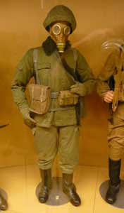 1984 uniform of a soldier of the NVA, the East German Army