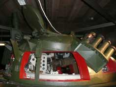 Side of the T-55 turret showing how thick the turret armour is