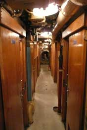 The corridor in crew cabin section and living area of the B-515