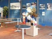 Photos and artefacts displayed in the U-434 visitors centre
