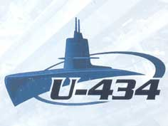 U-434 leaflet with technical specifications of the submarine