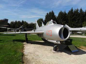 The Mikoyan-Gurevich MiG-17F was an improved version of the MiG-15 and power by the Klimov WK-1F engine