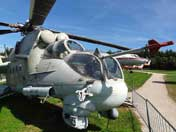Nose of the Mil Mi-24P Hind gunship that was delivered to the East German army in 1981