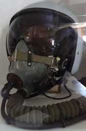 ZSh-7 Pilot Helmet with KM-34D oxygen mask used by Su-27, Su-33 and MiG-29 pilots of the Russian Air Force