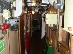 Communication system in the centre corridor of the Foxtrot sub