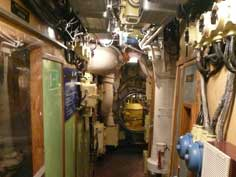 Cramped corridor in the Soviet B-413 Foxtrot class submarine