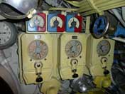 Speed controls of the three diesel engines of the submarine