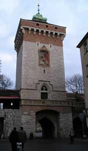 The Gothic St. Florians Gate in Krakow's old town was build in the 14th century to protect the city from Turkish attacks