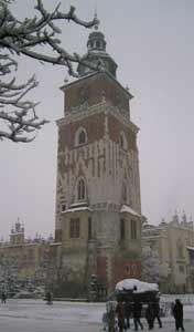 The Krakow Town Hall was demolished in 1820 its tower still stands on the Main Market Square in the old town