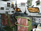 BTR-60 drivers station with radio communication equipment