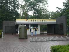 Entrance of Liberty park in Overloon, an excellent war museum