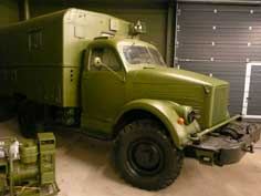 Soviet GAZ-51 army truck produced from the end of World War II