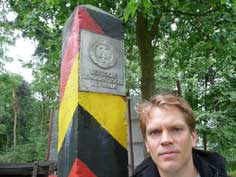Border pole of the GDR as they stood near the Iron Curtain
