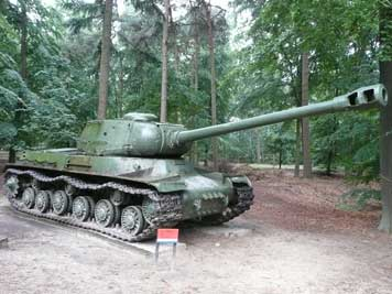 Soviet IS-2 Heavy Tank in the outdoor section of Liberty Park