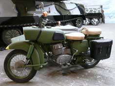East German manufactured MZ ES-250 motorcycle used by the Army