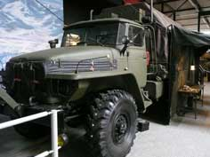 Red Army Ural-4320 off-road truck used as field repair shop
